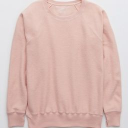Aerie Textured Vintage Crew Sweatshirt   American Eagle Outfitters (US & CA)