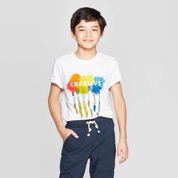 Boys' Short Sleeve Graphic T-Shirt - Cat & Jack™ White S | Target