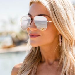 Traveling Beauty Rose Gold Sunglasses   The Pink Lily Boutique