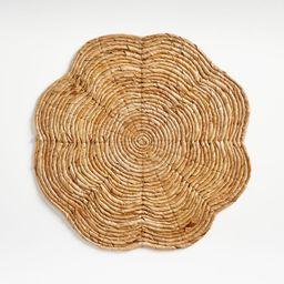 Petal Fiber Flower-Shaped Placemat + Reviews | Crate and Barrel | Crate & Barrel