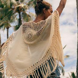 Forever Free Spirited Cream Crochet Fringe Shawl   Lulus (US)