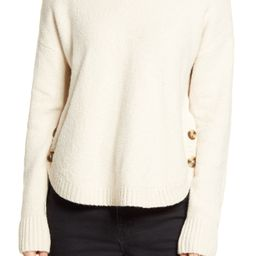 Women's Madewell Demi Side Button Sweater, Size Small - Beige | Nordstrom