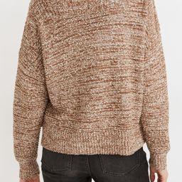 Women's Madewell Boat Neck Side Button Sweater, Size Large - Brown | Nordstrom