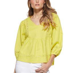 Scoop Women's Blouson Sleeve V-Neck Shirt   Walmart (US)
