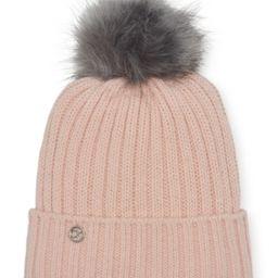 Calvin Klein Fleece-Lined Knit Pom Pom Hat | Macys (US)
