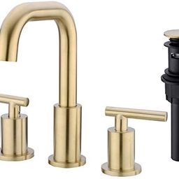 TRUSTMI 2-Handle 8-16 Inch Bathroom Sink Faucet with Pop Up Drain Assembly 3 Hole Deck Mounted 36...   Amazon (US)