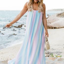 Oceans Of Love Multi Ombre Maxi Dress | The Pink Lily Boutique