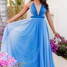 It All Begins With Love Blue Ombre Maxi Dress | The Pink Lily Boutique
