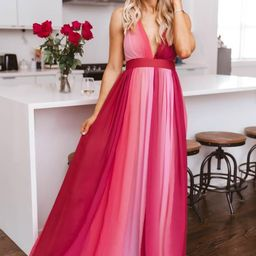 It All Begins With Love Pink Ombre Maxi Dress | The Pink Lily Boutique