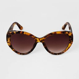 Women's Butterfly Tortoise Shell Cateye Sunglasses - A New Day™ Brown | Target