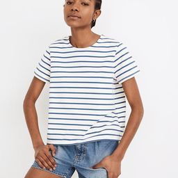 Luxe Boxy-Crop Tee in Atmore Stripe   Madewell