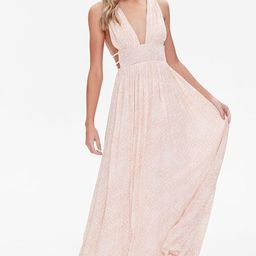 Snake Print Plunging Maxi Dress | Forever 21 (US)