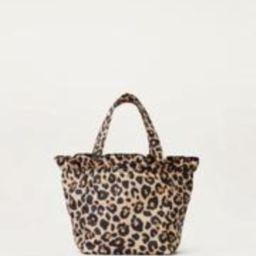 Claire Nylon Tote Leopard   Loeffler Randall