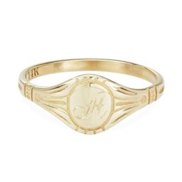 Grand Cygnet Ring, Yellow Gold | Catbird