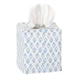 Batik Tissue Box Cover Blue   Amanda Lindroth