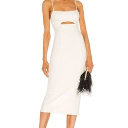 h:ours Enzo Midi Dress in White from Revolve.com | Revolve Clothing (Global)