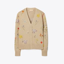 Floral Embroidered Simone Cardigan | Tory Burch (US)