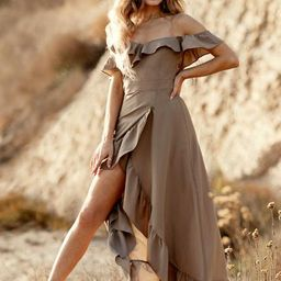 *NEW* Rah Dress in Taupe | Joyfolie