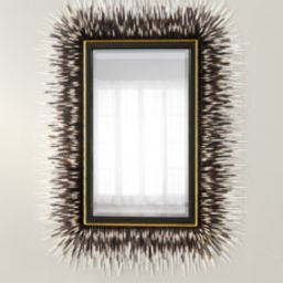 Porcupine Quill Rectangle Mirror | Horchow