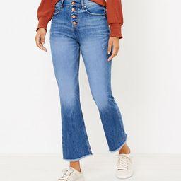 Flare Crop Jeans in Authentic Light Indigo Wash | LOFT