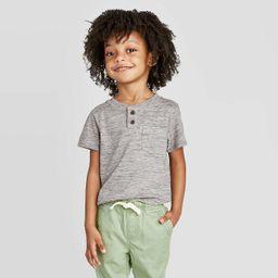 Toddler Boys' Henley T-Shirt - Cat & Jack™ Gray   Target