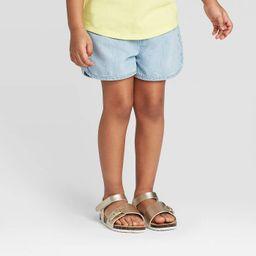 Toddler Girls' Woven Pull-On Shorts - Cat & Jack™ Light Blue   Target