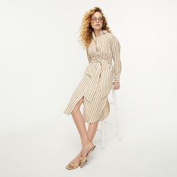Relaxed-fit crisp cotton poplin shirtdress in stripe   J.Crew US