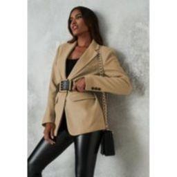 Tan Boyfriend Blazer Coat | Missguided (US & CA)