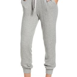 Women's 1.state Waffle Knit Jogger Pants, Size X-Large - Grey | Nordstrom