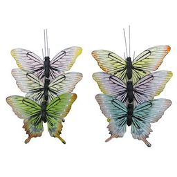 """Assorted 6.3"""" Feather Butterflies by Ashland® 