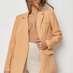 Missguided - Orange Co Ord Double Pocket Tailored Blazer   Missguided (US & CA)