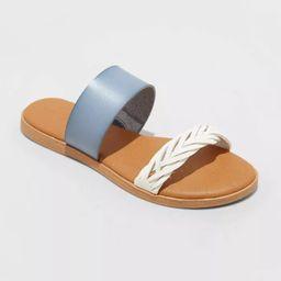 Women's Torri Two Band Slide Sandals - Universal Thread™ | Target