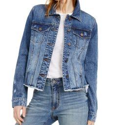 Kut from the Kloth Distressed Denim Jacket   Macys (US)