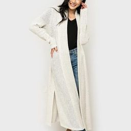 Boucle Long Belted Cardigan | Gibson