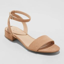 Women's Winona Ankle Strap Sandals - A New Day Taupe 8, Brown | Target