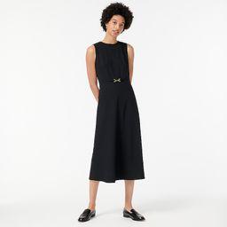 A-line midi dress in Italian stretch wool | J.Crew US