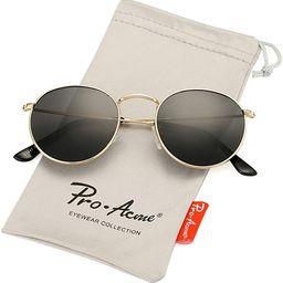 Pro Acme Small Round Metal Polarized Sunglasses for Women Retro Designer Style   Amazon (US)