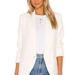 Amanda Uprichard Shawl Collar Blazer in Ivory from Revolve.com | Revolve Clothing (Global)