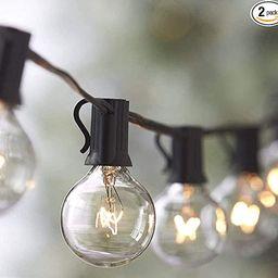 2-Pack Lemontec String Lights, 25FT Vintage Backyard Patio String Light with 25 Clear Globe Bulbs... | Amazon (US)