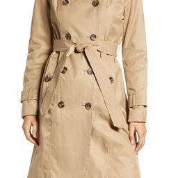 London Fog Double Breasted Trench Coat With Removable Hood   Nordstrom   Nordstrom