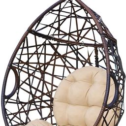 Christopher Knight Home 312592 Cayuse Indoor/Outdoor Wicker Tear Drop Hanging Chair (Stand Not In... | Amazon (US)