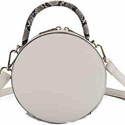 Fashion Print Vegan Leather Crossbody Canteen Satchel with Top Handle, Round Circle Purse Handbag...   Amazon (US)