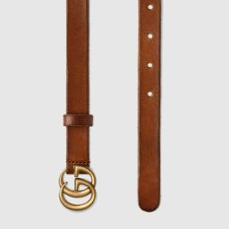 Leather belt with Double G buckle   Gucci (US)