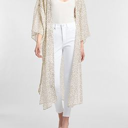 Cheetah Belted Kimono Cover-Up   Express
