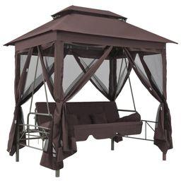 Gazebo Swing Chair Coffee   Overstock