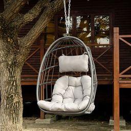 Swing Chair Dakota Fields Color: Gray | Wayfair North America