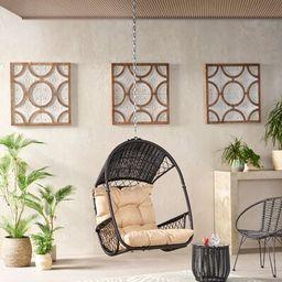 Whetzel Swing Chair Bay Isle Home™ Color: Brown/Tan   Wayfair North America