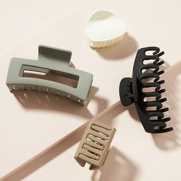 Courtside Matte Hair Clip Set | Anthropologie (US)