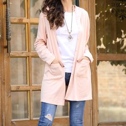 Z Avenue Women's Cardigans Pink - Pink Button-Up Cardigan - Plus Too   Zulily