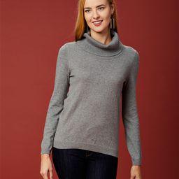 Maglia Women's Pullover Sweaters GREY - Gray Turtleneck Sweater - Women   Zulily